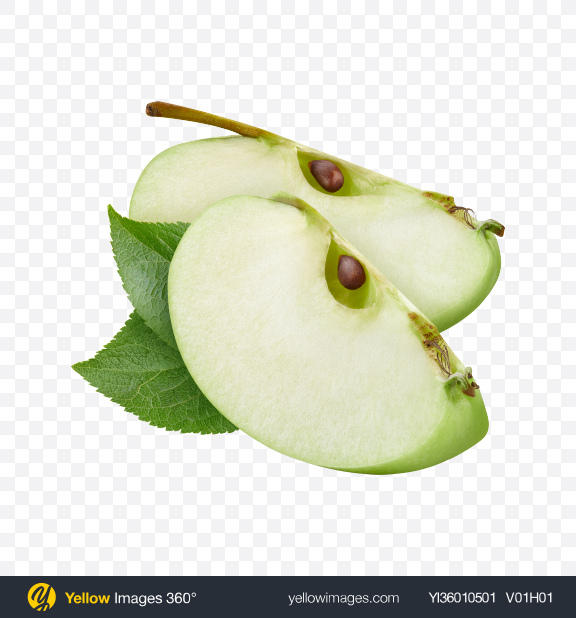 Download Green Apple Slices Transparent PNG on YELLOW Images