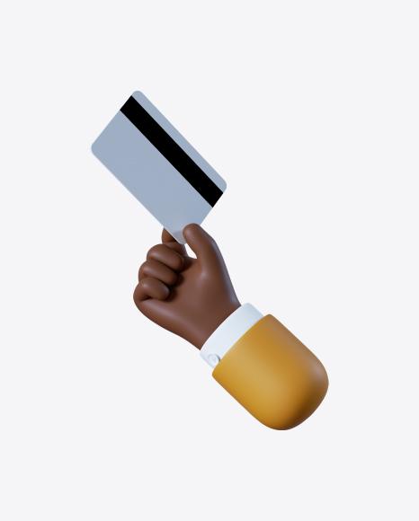 Cartoon Hand Holding Credit Card