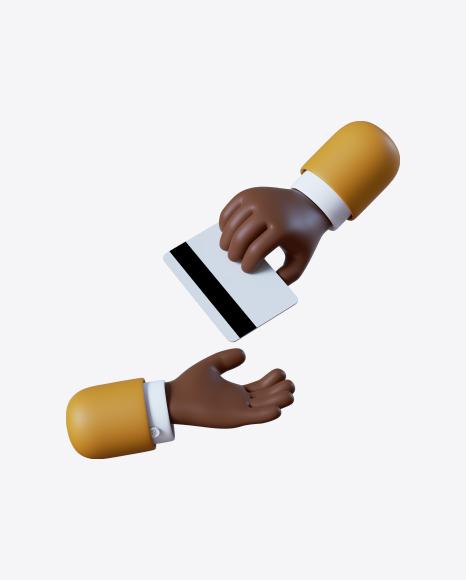Cartoon Hand Giving Credit Card
