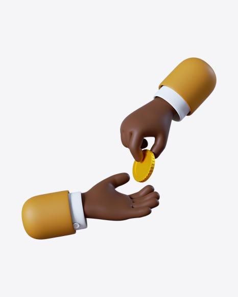 Cartoon Hand Giving Coin
