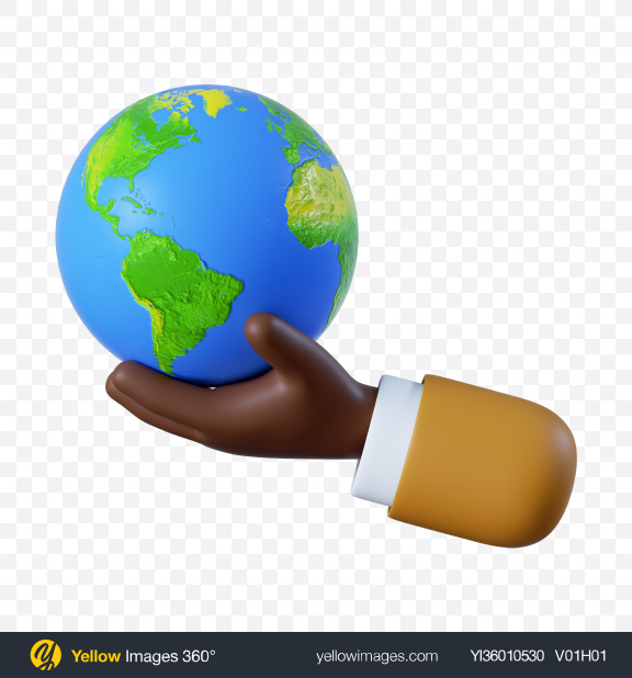 Download Cartoon Hand Holding Globe Transparent PNG on YELLOW Images