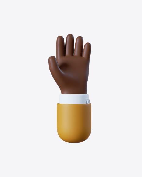 Cartoon Open Hand Gesture