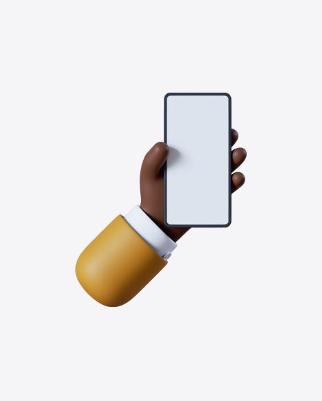 Cartoon Hand with Smartphone