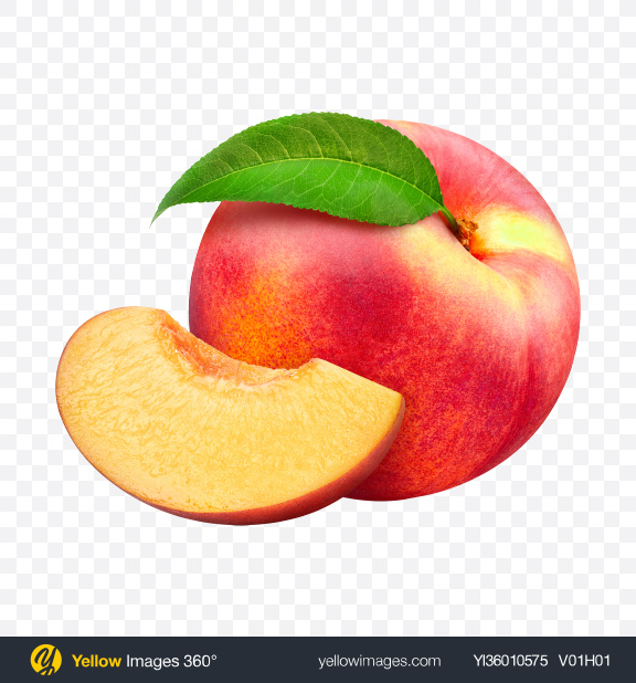 Download Whole Nectarine & Slice Transparent PNG on YELLOW Images
