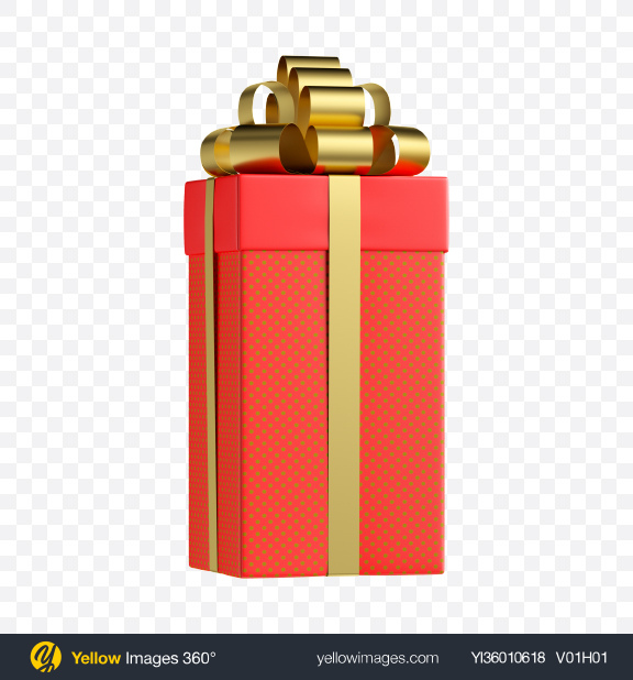 Download Red Gift Box Transparent PNG on YELLOW Images