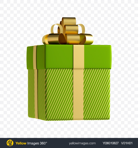 Download Green Gift Box Transparent PNG on YELLOW Images