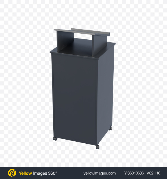Download Black Pulpit with Wheels Transparent PNG on YELLOW Images