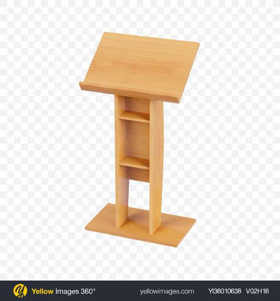 Download Wooden Lectern Transparent PNG on YELLOW Images