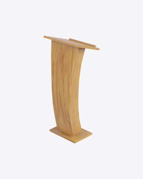 Curved Wooden Rostrum
