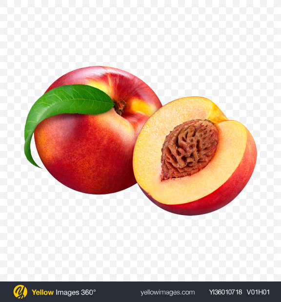 Download Whole Nectarine & Half Transparent PNG on YELLOW Images