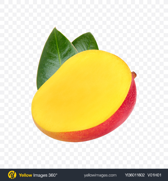 Download Half of Mango Transparent PNG on YELLOW Images