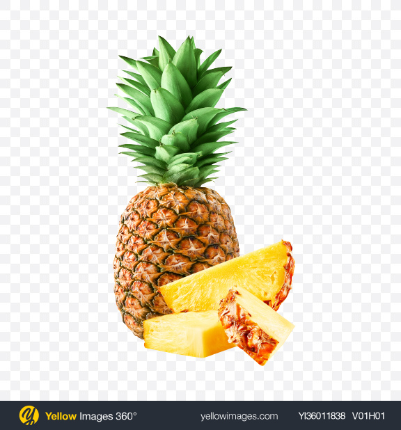 Download Pineapple Set Transparent PNG on YELLOW Images