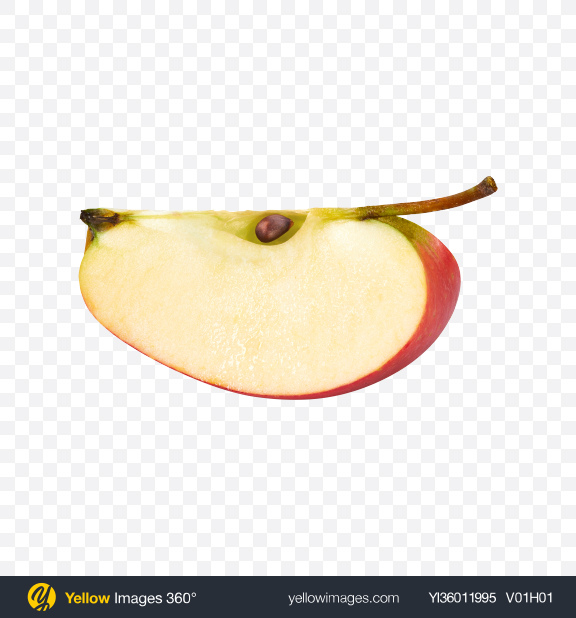 Download Red Apple Slice Transparent PNG on YELLOW Images