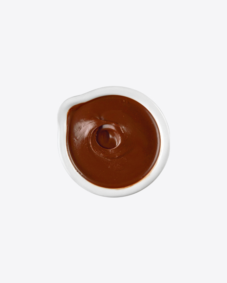 Chocolate Paste in White Bowl