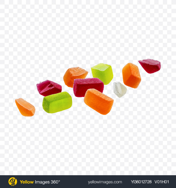 Download Marmalade Candies Set Transparent PNG on YELLOW Images