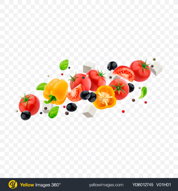 Download Greek Salad Set Transparent PNG on YELLOW Images