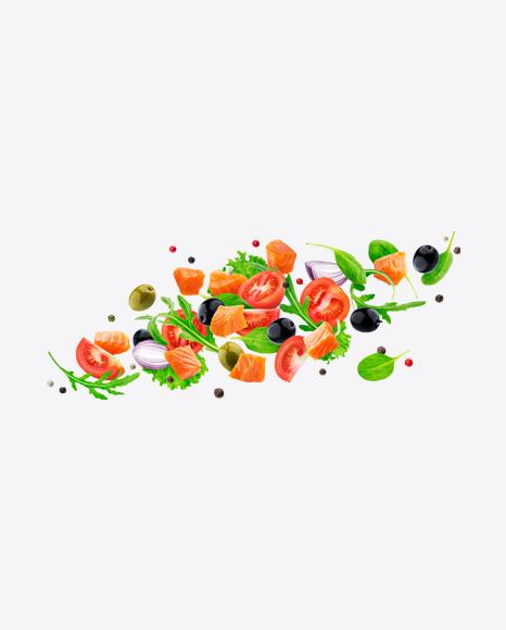 Tomatoes & Salmon Salad Set