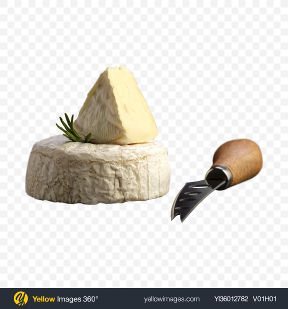 Download Camembert Cheese w/ Knife Transparent PNG on YELLOW Images