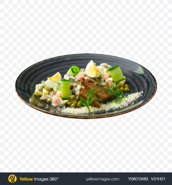 Download Olivier Salad Transparent PNG on YELLOW Images