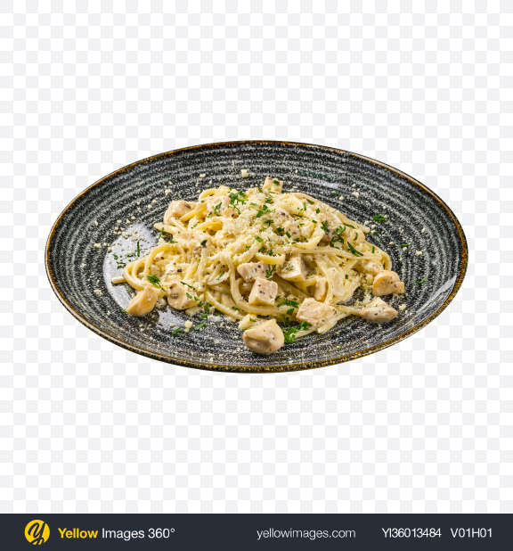 Download Spaghetti w/ Mushrooms & Parmezan Transparent PNG on YELLOW Images