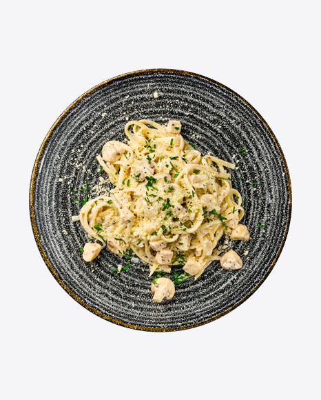 Spaghetti w/ Mushrooms & Parmesan