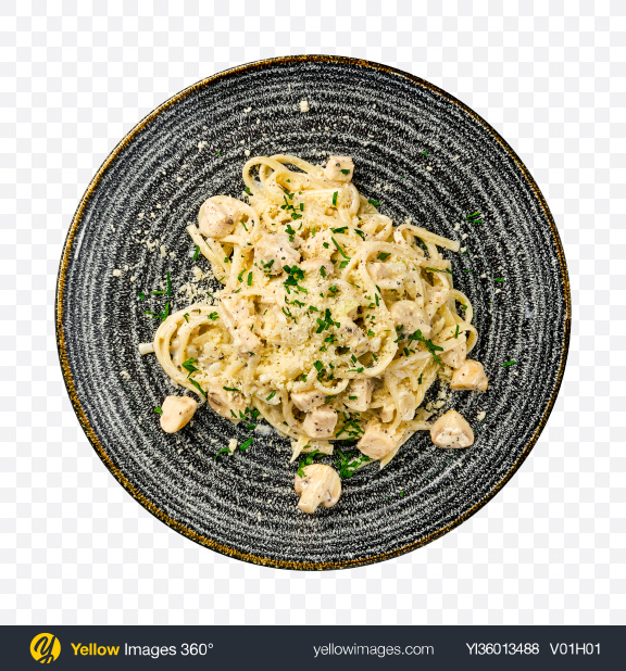 Download Spaghetti w/ Mushrooms & Parmesan Transparent PNG on YELLOW Images
