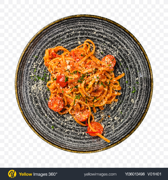 Download Pasta w/ Tomatoes & Parmesan Transparent PNG on YELLOW Images