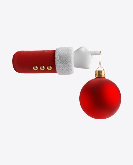 Santa's Hand w/ Christmas Ball
