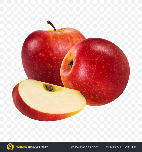 Download Red Apple Set Transparent PNG on YELLOW Images
