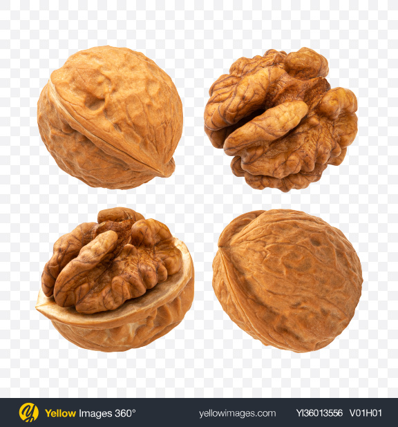 Download Walnuts Set Transparent PNG on YELLOW Images