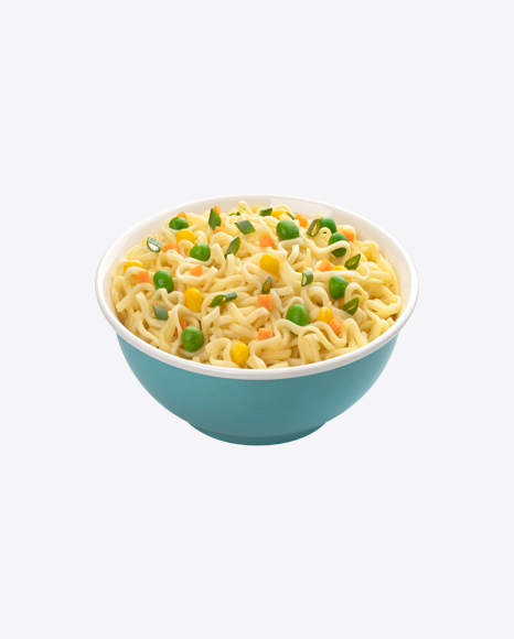 Noodles in Ceramic Bowl