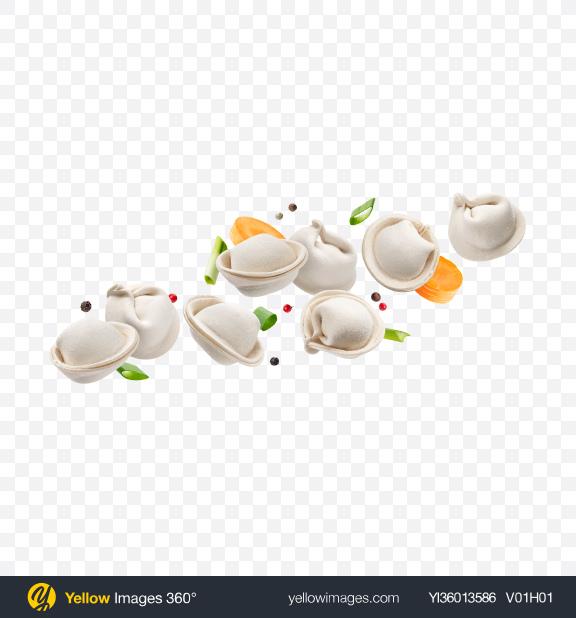 Download Frozen Dumplings Set Transparent PNG on YELLOW Images