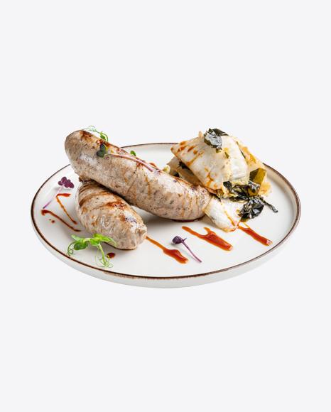 Roasted Liver Sausages w/ Salad