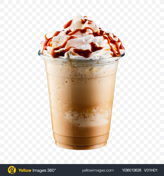 Download Frappuccino in Plastic Cup Transparent PNG on YELLOW Images