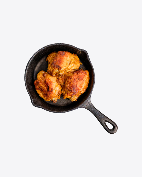 Roasted Chicken in Iron Pan