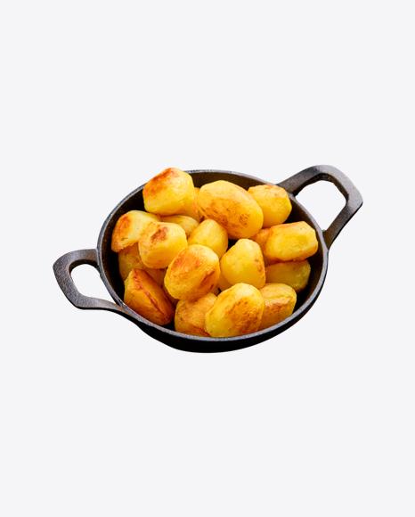 Roasted Potato in Iron Pan