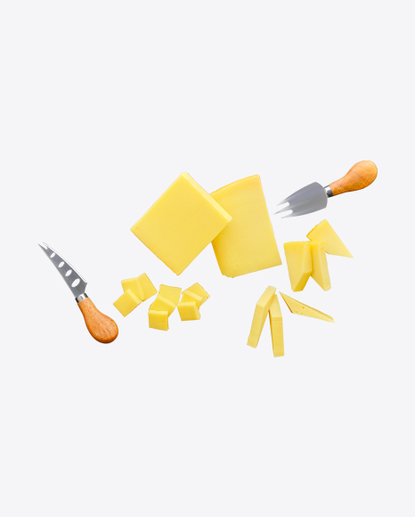 Cheese Pieces w/ Tableware