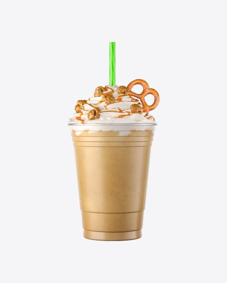 Plastic Coffee Cup w/ Whipped Cream, Popcorn & Pretzel