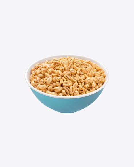 Caramel Muesli in Ceramic Bowl