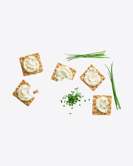 Crackers w/ Cream Cheese & Green Onion Set