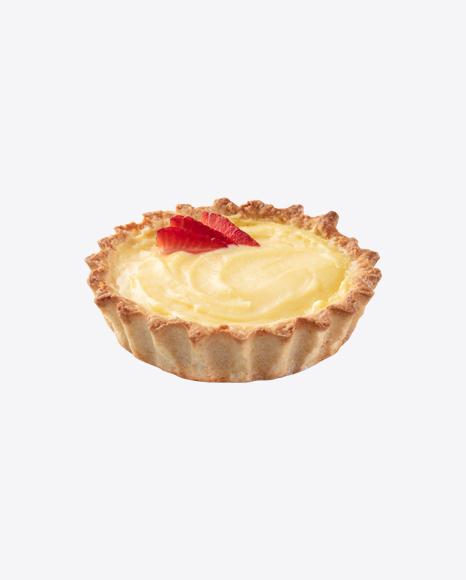 Tart w/ Cream & Strawberry Slices