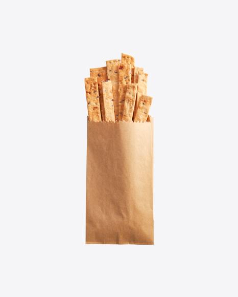 Crackers w/ Sesame Seeds in Kraft Bag