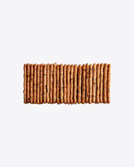 Stack of Crackers w/ Sesame Seeds