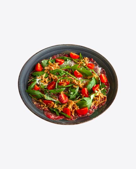 Carpaccio w/ Tomatoes & Arugula