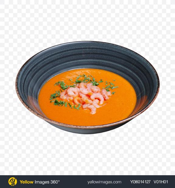 Download Pumpkin Cream Soup w/ Shrimps Transparent PNG on YELLOW Images