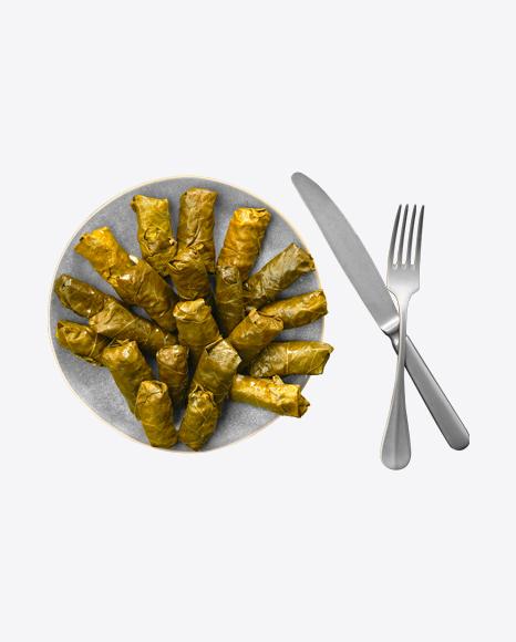 Dolma on Plate w/ Tableware