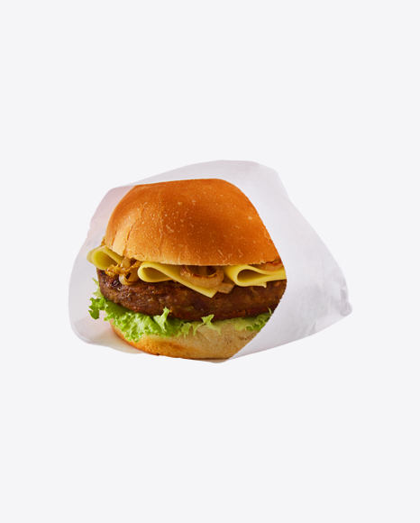 Vegan Cheeseburger in Paper Wrap & Sauce