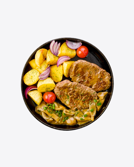 Country Potatoes w/ Roasted Meat & Vegetables