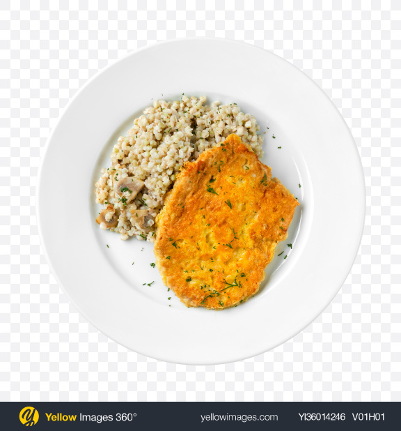 Download Pearl Barley w/ Roasted Meat Transparent PNG on YELLOW Images