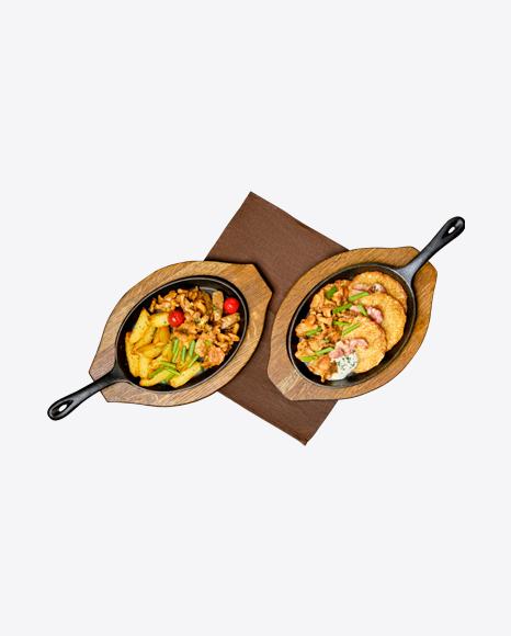 Potato Pancakes & Country Potatoes in Iron Pan